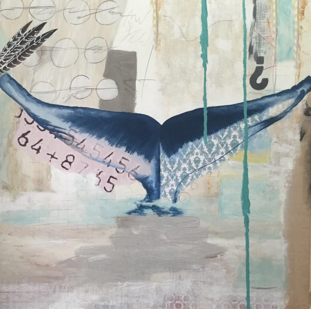 LOST AT SEA 100X100 cm – SOLD